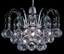 Chrome Frame Oreil Pendant Ceiling Light Shade Acrylic Crystal Ball Droplets