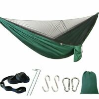 Portable Double Camping Hammock with Mosquito Net Nylon Tent Hanging Bed B