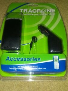 Tracfone Accessories Car Charger/ Phone Case/hands Free Headset