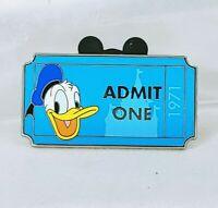 WDW Admission Ticket Admit One Donald 1971 PWP Disney Pin 92329