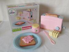 Kidkraft Kids Pink Pastel Wooden Toaster Set Pretend Play Kitchen Toy