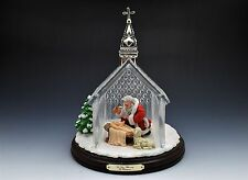 Thomas Kinkade Hawthorne Village Santa Nativity Crystal Chapel