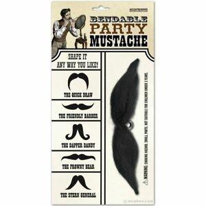 False Fake Bendable Party Moustache Beard Tash Facial Hair Fancy Dress Mexican
