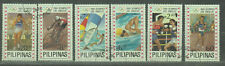 Philippine Stamps 1984 Los Angeles Olympics complete set CTO, (cancelled)