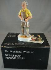 Vintage Sebastian Miniatures Figure With Box 1984 Chris Carpenter #3340