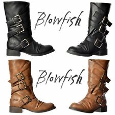 Blowfish Zip Block Synthetic Leather Shoes for Women