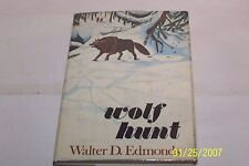 Wolf Hunt Walter D. Edmonds Signed USA 1970 hardcover W/jacket first Edition
