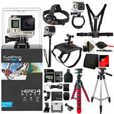 GoPro Hero4 BLACK Edition Camera with 48GB Tripod Monopods Mount and More Bundle