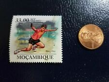 New listing Wang Hao Table Tennis Ping Pong Olympics 2010 Mocambique Perforated Stamp
