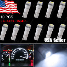 10PCS Cool White Car T5 5050 1SMD Wedge LED Light Bulbs 74 17 18 37 70 2721