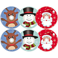 Christmas Style Mason Jar Lids w hole for Straw Holiday Drinks Hot Cocoa Glasses