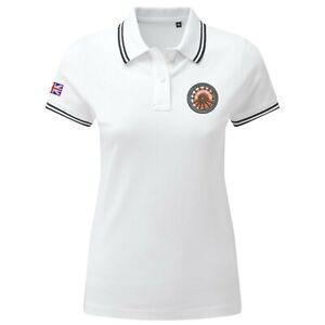 Women's Twisted Wheel Polo Shirt With Embroidered Logo. Mod, Ska,Two-Tone Retro