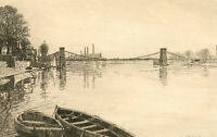 Joseph Swain - Signed 1853 Etching, The Gloomy River