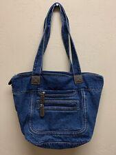 Blue Jean Denim  Hobo Bag  Purse Tote 2 Zippered Compartments Big + Coin Purse!