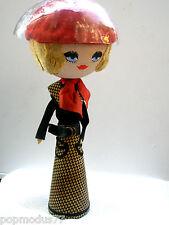 Marotte Porta parrucca/ cappello Vintage parrucca oro hat stand 60 stile TWIGGY
