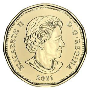 🇨🇦 2021 Canada $1 Dollar Coin Loonie, Mint UNC, 2021