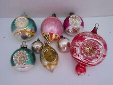 Vintage Glass German Mercury Glass Finial Indent Fancy Ornaments Lot of 7