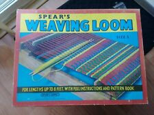 Vintage Spear's Wooden Weaving Loom Size 3 Made in England in Original Box