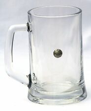 Football Emblem Beer Glass 1 Pint Lager Tankard Gift Present FREE UK POSTAGE