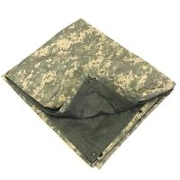 "Reversible Field Tarp, Military Ground Cloth ACU Waterproof Shelter, 80"" x 80"""