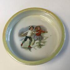 Ice Skating Children Bowl Iridescent Retsch & Co. Porcelain Bowl Bavaria RWC