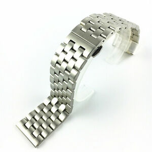 Brushed Stainless Steel Watch Strap Watch Band Bracelet 18 19 20 21 22 24 26mm