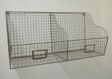 Industrial Wire Metal Shelving Storage Letter Wall Rack Shelf Office Urban Decor
