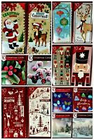 Pack Of 10 Luxury Xmas Christmas Cards & Envelopes 2 Designs per pack
