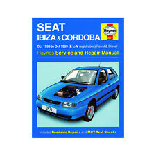 Seat Ibiza Cordoba 1.0-2.0 Petrol 1.9 Diesel 93-99 (L to V Reg) Haynes Manual