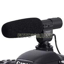 Sg-108 Shotgun Micrófono Estéreo Para Dv Dslr Canon 5d Iii Ii 7d 550d 600d 60d K5