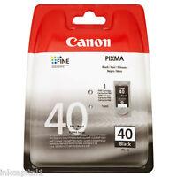 Canon 1x pg-40, PG40 NEGRO ORIGINAL OEM Pixma Cartucho de tinta