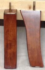 "Cherry Fin Curved Furniture Feet Chair Sofa 2 Legs 8"" tall #3268 FREE SHIPPING"