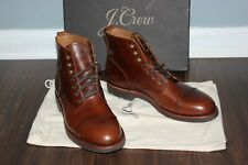 J.CREW $248 Kenton Leather Cap Toe Boots 9 Burnished Tobacco  f4446 Shoes  brown