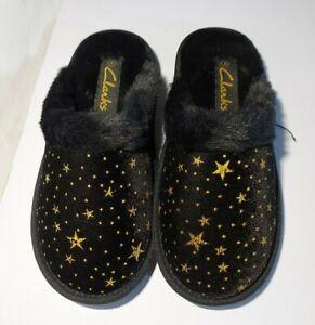 New Clarks Black Ladies Slippers UK Size 5