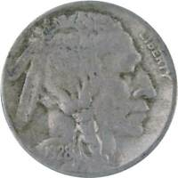 1928 S 5c Indian Head Buffalo Nickel US Coin F Fine