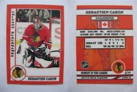 2015 SCA Sebastien Caron Chicago Blackhawks goalie never issued produced #d/10