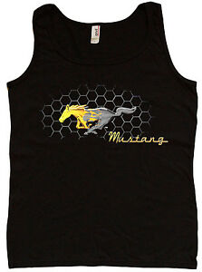 Ladies tank top Ford Mustang pony ford womens shirt sleeveless top ford t-shirt