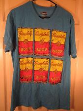 Campbell's Soup Can Men's Multi-Color T-shirt L Andy Warhol Artwork Cotton Blend