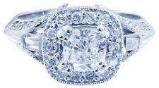 Cushion White Gold VS2 18k Diamond Engagement Rings
