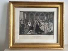 Antique 1887 Print of The Marriage of Princess Beatrice