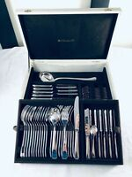 Christofle Flatware America Luc Lanel Table Dinner set Art Deco  61 pcs 12 Pers