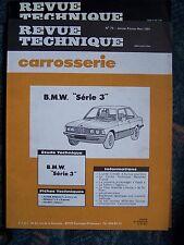 RTA REVUE TECHNIQUE SERVICE CARROSSERIE BMW SERIE 3 N° 73 1981
