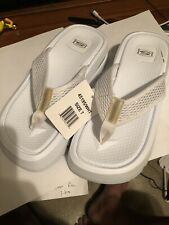 Sketchers US 7 White Slip On Sandals Shoes New With Tags