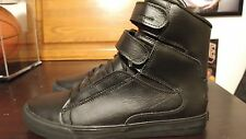 SUPRA SOCIETY II BLACK BLACK RED LEATHER S34184 MEN SHOES SIZE 11.5