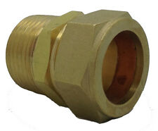 """Procus Coupling 1"""" -28mm Brass Compression Fitting (Pack of 9)"""