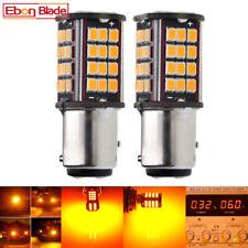 1157 Car LED BAY15D P21/5W Auto Turn Signal Light Bulb Lamp Amber Yellow 6V DC