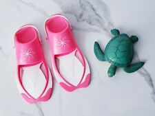 American Girl Lea Accessories Flippers Replacement Shoes Beach Pink & Pet Turtle