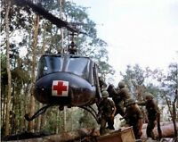 Color Photo US Army UH-1 Huey Helo Medevac Mission  Vietnam War  /5212