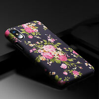 Slim Cute Flower Matte Hard Case For Samsung Galaxy S8 S8 Plus&iPhone X 8 7-Wife