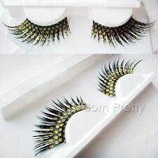 1 Pair Yellow Dot Curly False Eyelash Kit Long Thick Party False Eyelash Kit